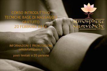 atmosphere ayurvediche ravenna - corso tecniche base massaggio