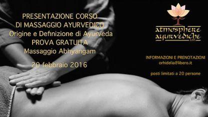 atmosphere ayurvediche ravenna - presentazione corso massaggio ayurvedico