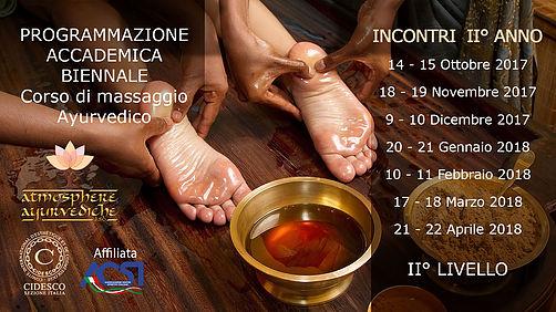 atmosphere ayurvediche ravenna - accademia biennale corso massaggio ayurvedico secondo anno 2017-2018